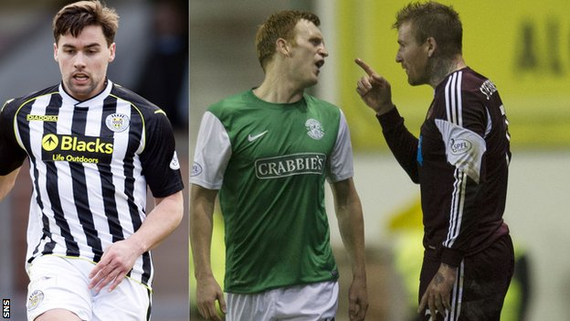 Darren McGregor, Liam Craig and Ryan Stevenson