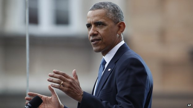 US President Barack Obama appeared in Warsaw, Poland, on 4 June 2014