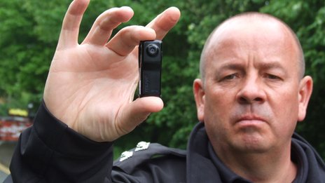 Insp Simon Orton with body camera