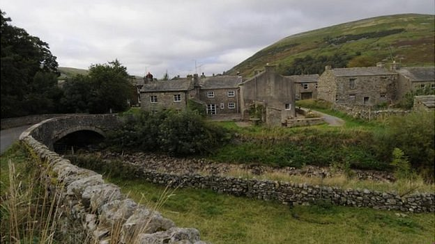 Thwaite village in the Yorkshire Dales National Park