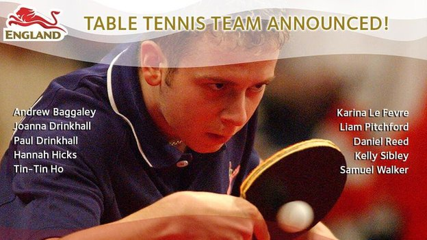 Table tennis team graphic