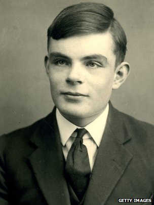 Turing aged 16 in 1928. Sherborne School