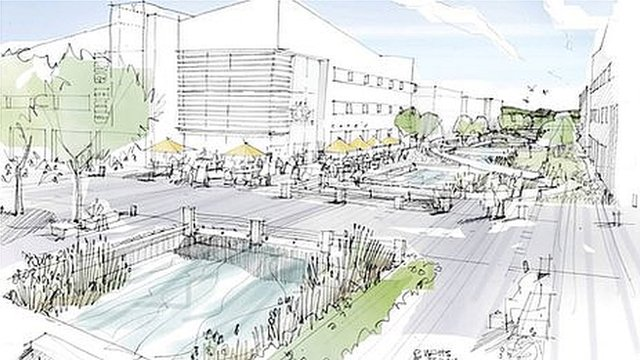 Artist's impression of the Innovation Centre proposed to be built on the Bridgwater Gateway site in Somerset