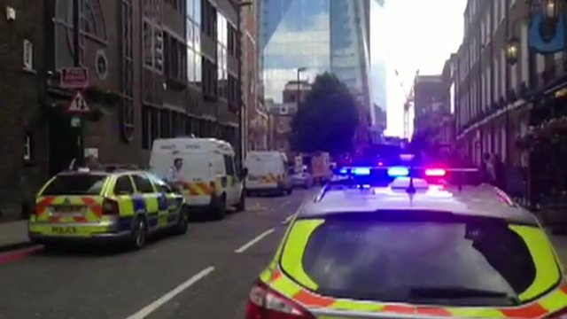 Police outside the shard