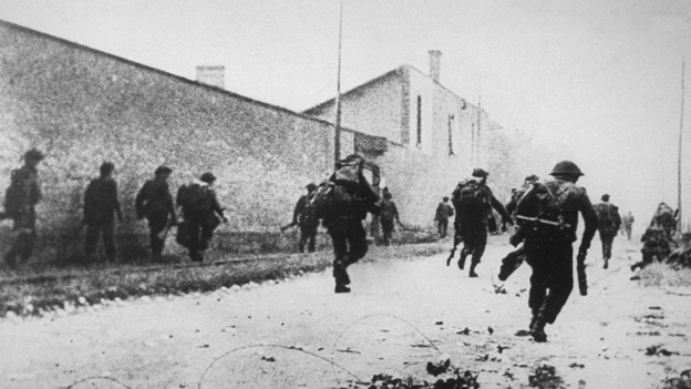 British commandos who landed in Normandy on 6th June set out to capture a Nazi gun site, which is protected by enemy snipers on June 6, 1944