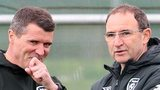 Roy Keane (left) with Martin O'Neill at Republic of Ireland training on Wednesday