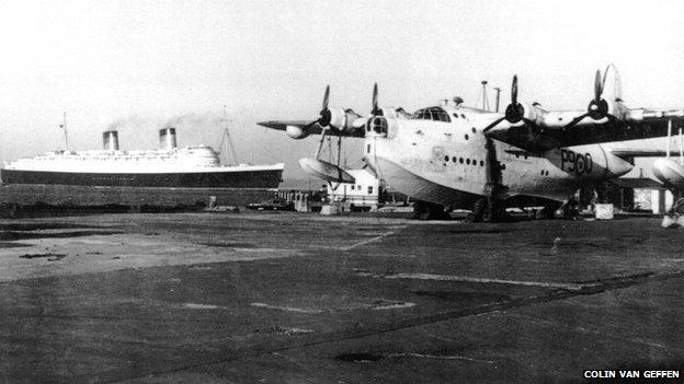 Plane at RAF Calshot