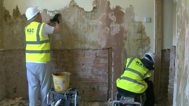 Work on property in Colwyn Bay