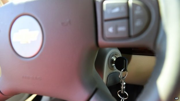 key in the ignition switch of a 2005 Chevrolet Cobalt