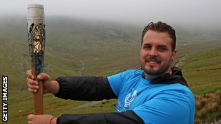 Aled Sion Davies with baton