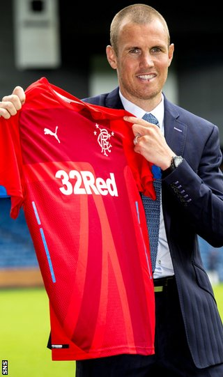Kenny Miller with Rangers' new third kit
