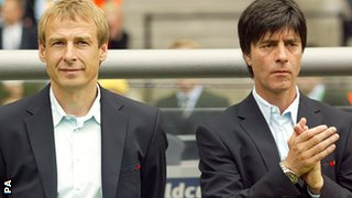 Jurgen Klinsmann (left) and Joachim Low