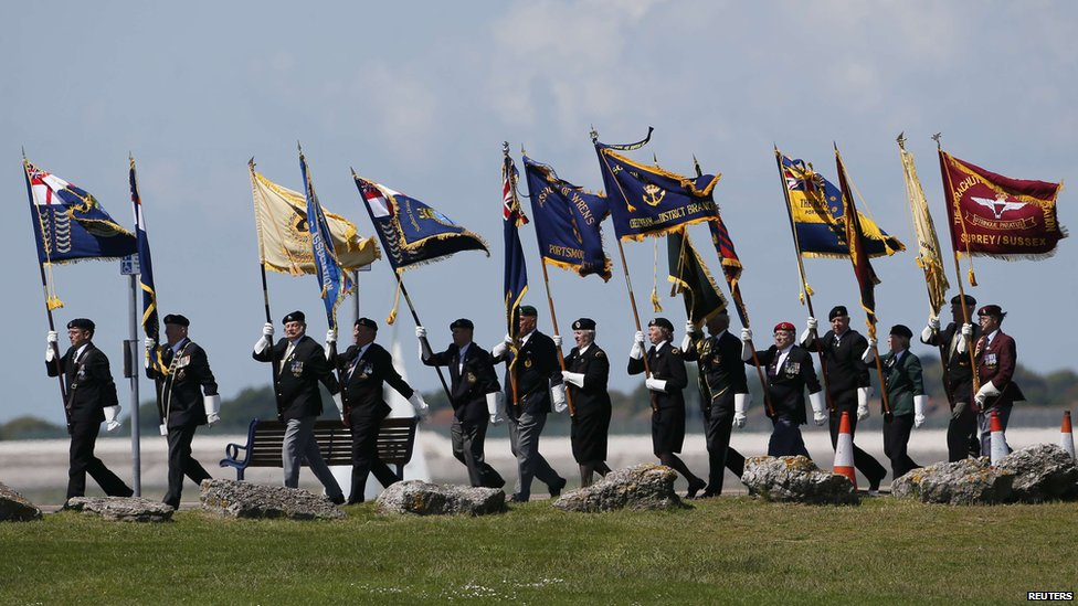 Veterans taking part in a D-Day event in Portsmouth