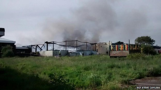 Brixham fire (Pic: Sgt Steve Cayless)