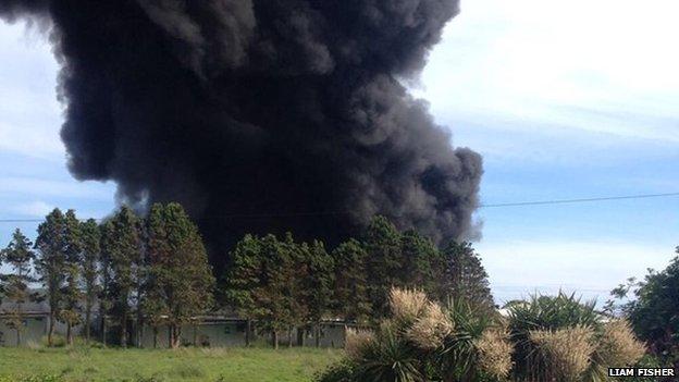 Brixham fire (Pic: Liam Fisher)