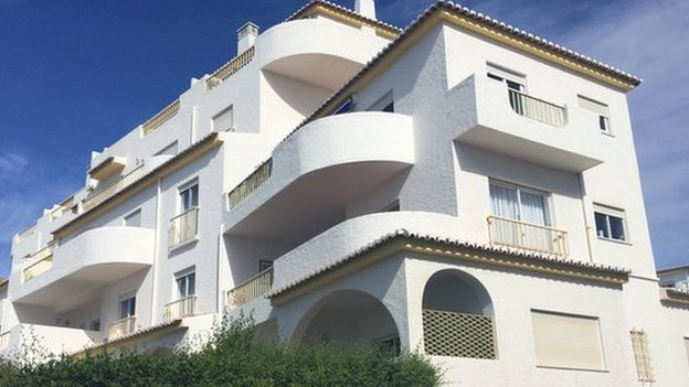 The apartment at the Ocean Club in Praia da Luz where Madeleine McCann was staying