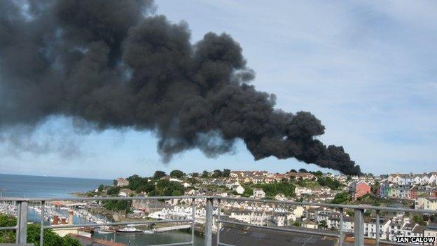 Brixham fire (Pic: Ian Calow)