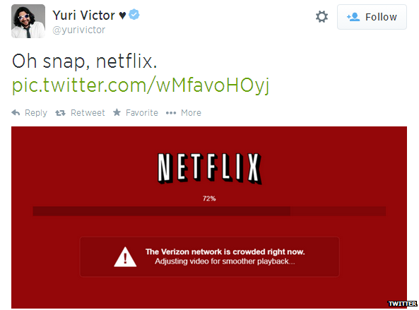 Yuri Victor's twitter feed with netflix image