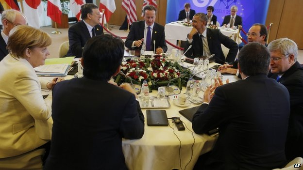 G7 leaders in Brussels (5 June 2014)