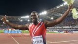 Justin Gatlin at the Diamond League meeting in Rome after his 100m win