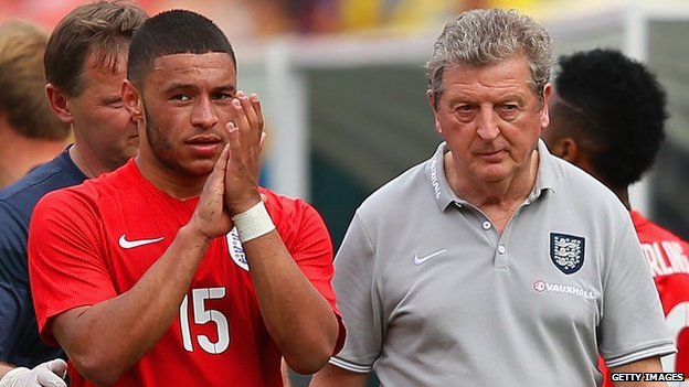 Alex Oxlade-Chamberlain and Roy Hodgson