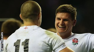 Freddie Burns England v New Zealand