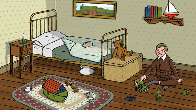 Illustration of a child's bedroom