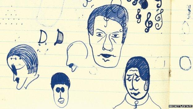 Samuel Beckett's doodles