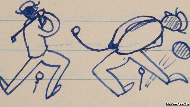 Beckett's golfer doodle