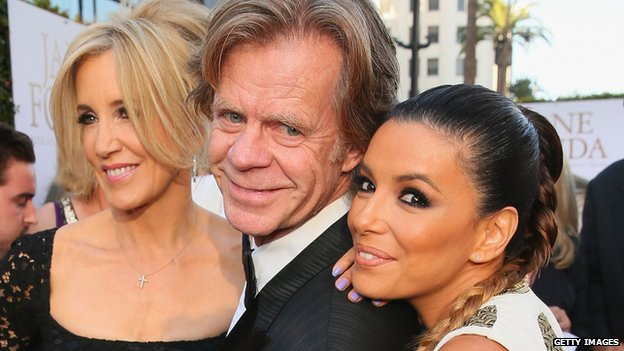 Felicity Huffman, William H. Macy and Eva Longoria