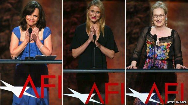 Sally Field, Cameron Diaz and Meryl Streep