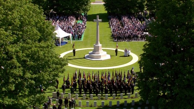 A D-Day ceremony