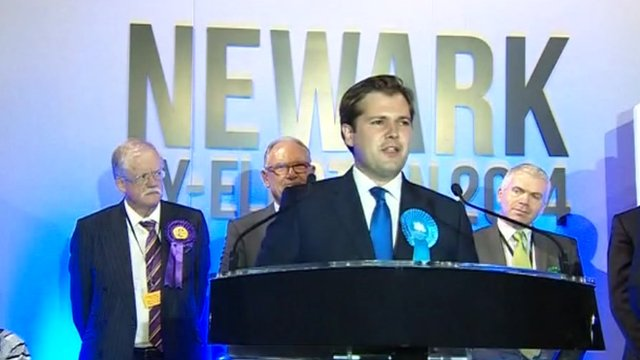 Conservative Robert Jenrick at Newark by-election declaration