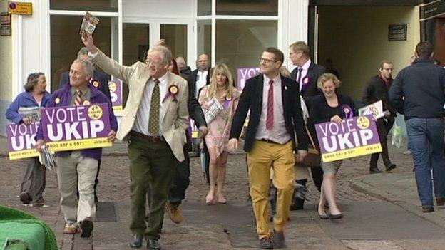 UKIP campaigning in Newark