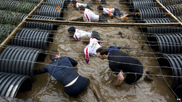 Participant in a Tough Mudder event