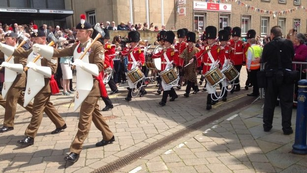 The Royal Regiment of Fusiliers in Warwick