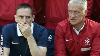 Franck Ribery (left) with France manager Didier Deschamps
