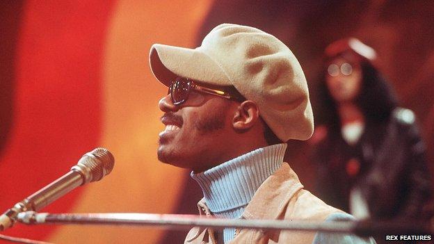 Stevie Wonder, picture taken in 1974