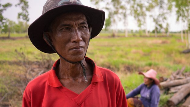 Boonsom, a rice farmer and dedicated follower of the red shirt movement