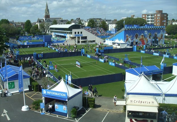 General view of Devonshire Park during the Eastbourne tournament in 2013