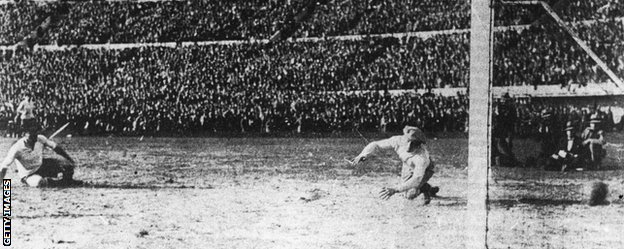 Uruguay win 1930 World Cup