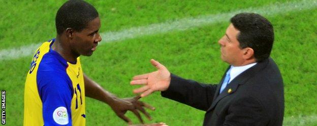 Ecuador manager Luis Suarez