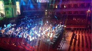 Royal Albert Hall D-Day concert rehearsal