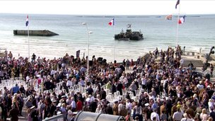scene at Arromanches