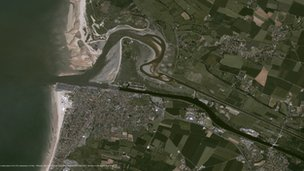 Satellite view of Ouistreham