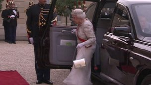 The Queen arrives
