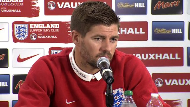 England captain Steven Gerrard speaking ahead of England's friendly against Honduras