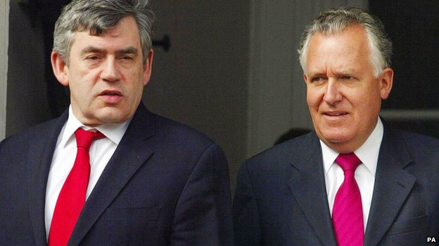Gordon Brown and Peter Hain