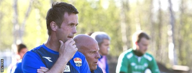 Ronny Deila while with Stromsgodset