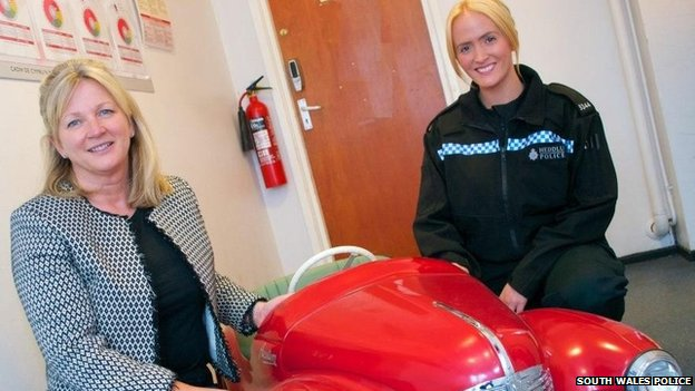 PC Myfanwy Beaumont and Kate Marment